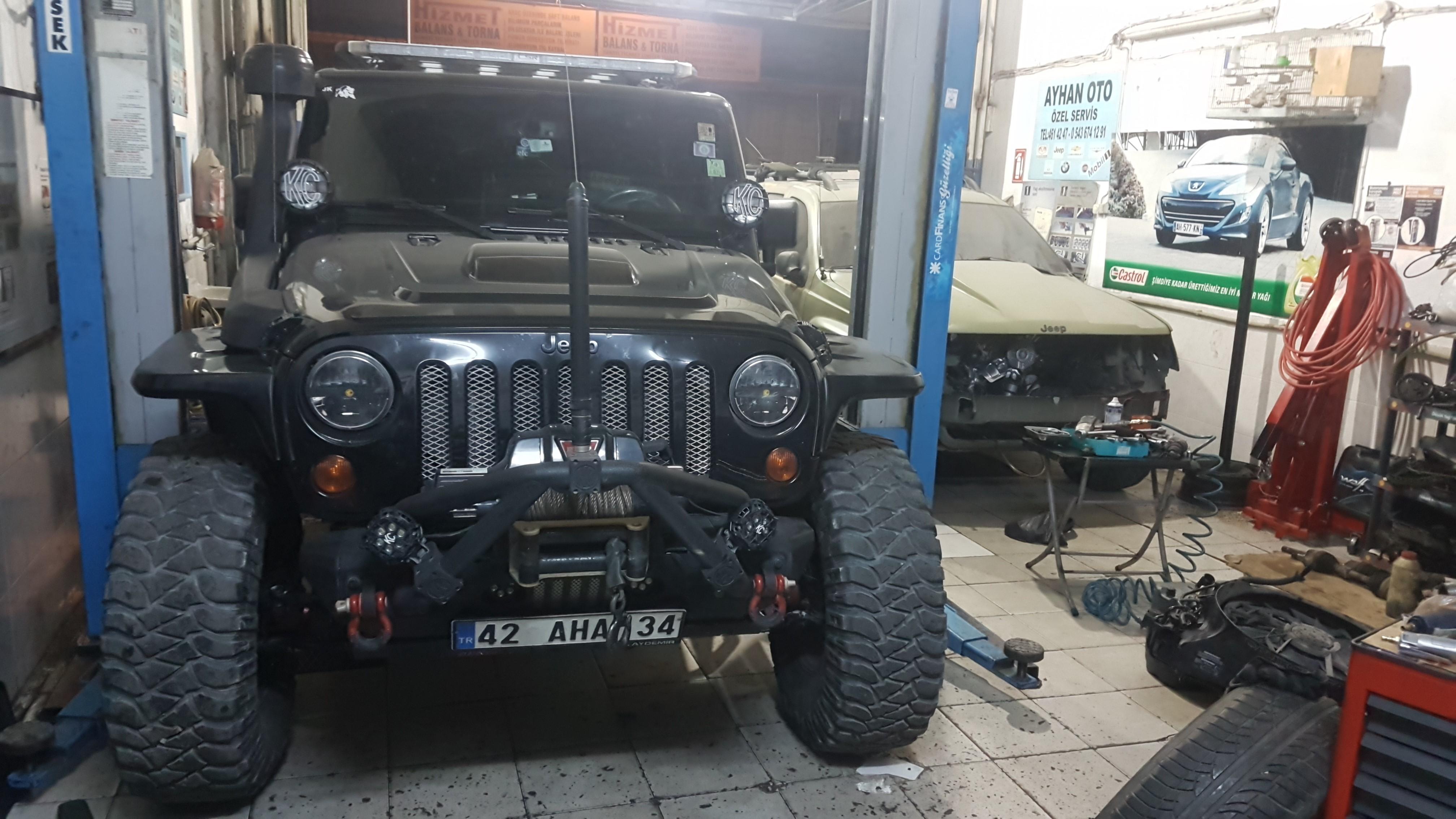 jeep Rubicon Periyodik Bakım